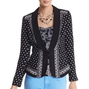 White House Black Market Mixed Print Jacket Size 8